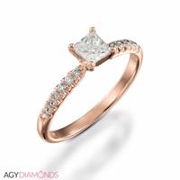 Bild von 2.62 Gesamtkarat Klassisch-Verlobungsring mit Princessdiamant