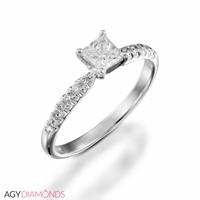 Bild von 1.62 Gesamtkarat Klassisch-Verlobungsring mit Princessdiamant