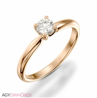 Picture of 0.70 Total Carat Solitaire Engagement Round Diamond Ring