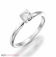 Picture of 0.20 Total Carat Solitaire Engagement Round Diamond Ring