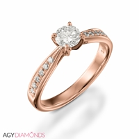 Picture of 1.02 Total Carat Classic Engagement Round Diamond Ring