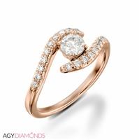 Picture of 0.69 Total Carat Designer Engagement Round Diamond Ring