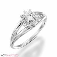 Picture of 0.33 Total Carat Classic Engagement Round Diamond Ring