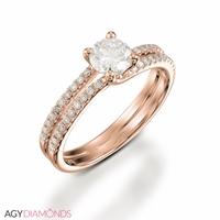 Picture of 0.90 Total Carat Designer Engagement Round Diamond Ring