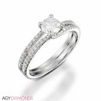 Picture of 0.60 Total Carat Designer Engagement Round Diamond Ring