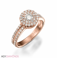 Picture of 1.10 Total Carat Masterworks Engagement Round Diamond Ring