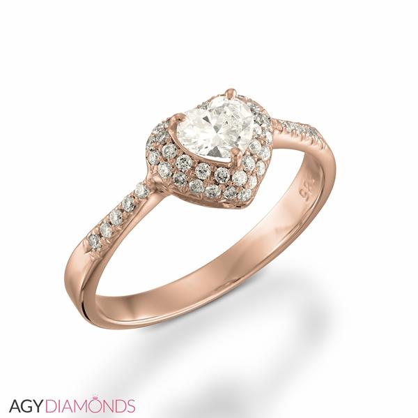 0 57 Gesamtkarat Herz Verlobungsring Mit Herzdiamant Agy Diamonds