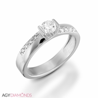 Picture of 0.38 Total Carat Designer Engagement Round Diamond Ring