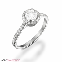 Picture of 0.73 Total Carat Halo Engagement Round Diamond Ring