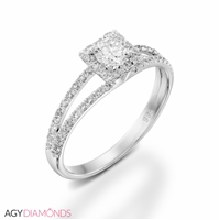 Picture of 1.18 Total Carat Halo Engagement Round Diamond Ring