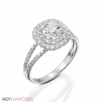 Picture of 1.16 Total Carat Halo Engagement Round Diamond Ring