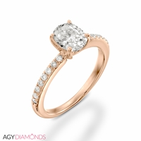 Picture of 1.16 Total Carat Classic Engagement Oval Diamond Ring