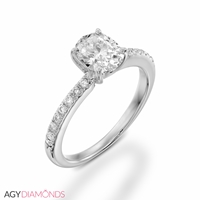 Picture of 0.46 Total Carat Classic Engagement Oval Diamond Ring