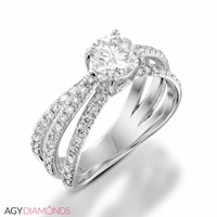 Picture of 1.64 Total Carat Masterworks Engagement Round Diamond Ring