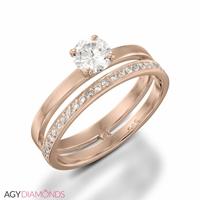 Picture of 0.62 Total Carat Designer Engagement Round Diamond Ring
