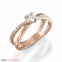 Picture of 0.46 Total Carat Designer Engagement Round Diamond Ring