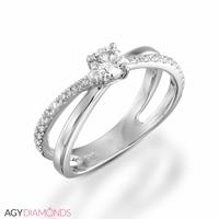 Picture of 0.41 Total Carat Designer Engagement Round Diamond Ring