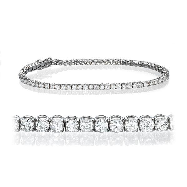 Bild von 12.00 Gesamtkarat Tennis-Diamantarmbänder mit Runddiamant