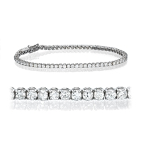 Picture of 3.50 Total Carat Tennis Round Diamond Bracelet