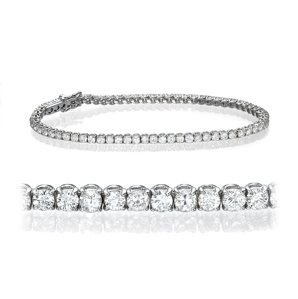 Picture of 3.50 Total Carat Tennis Round Diamond Bracelet