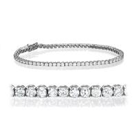 Bild von 4.00 Gesamtkarat Tennis-Diamantarmbänder mit Runddiamant